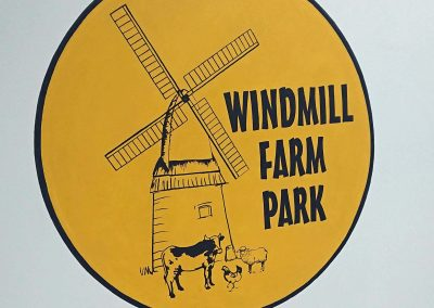 Windmill farm handpainted sign
