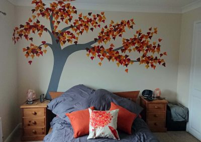 autumn tree mural