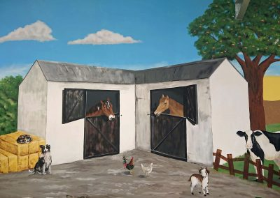farmyard nursery mural