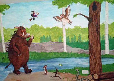 Image of nursery with gruffalo and room on the broom