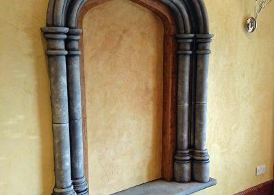 stone and oak niche