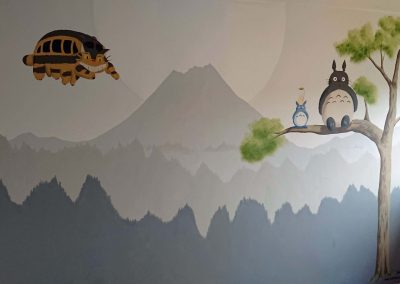image of nursery with totoro and catbus