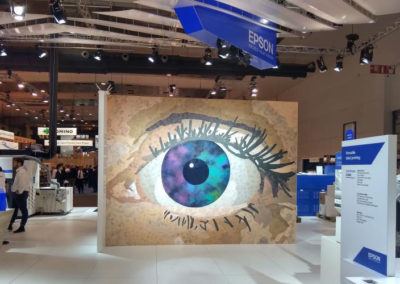 Epson eye mural for exhibition