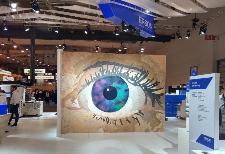 Epson eye mural for exhibition