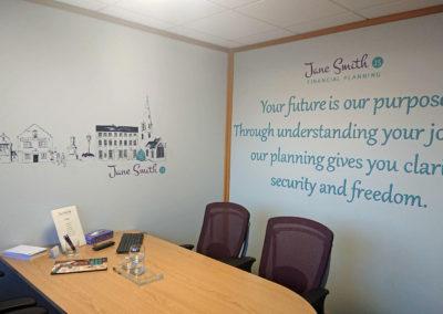 Office meeting room wall art