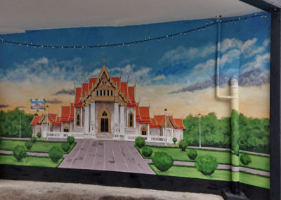 Mural of Golden temple for Thair restaurant