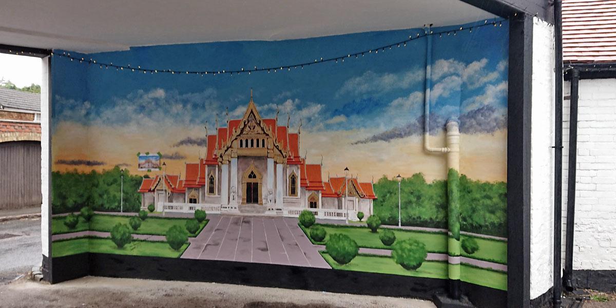 Mural of Golden temple for Thair restaurant