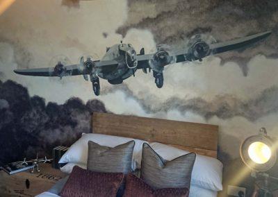 Handley Page Halifax plane mural