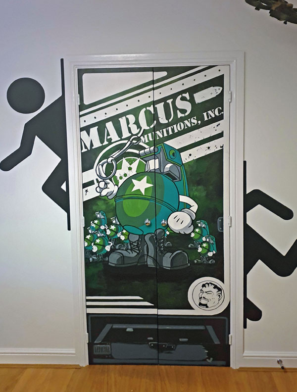 Gaming doors mural