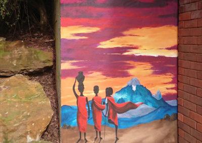 kenyan sunset garden mural