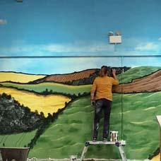 sarah hodgkins mural painting