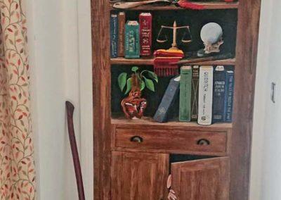 Happy Potter bookcase mural