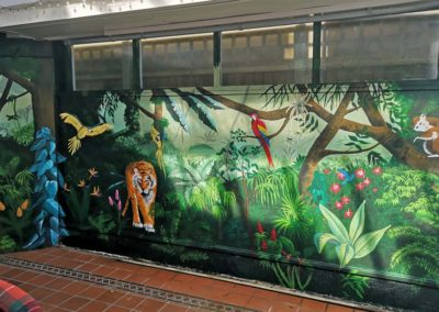 Jungle conservatory mural