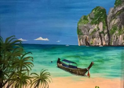 Acrylic painting of Thailand