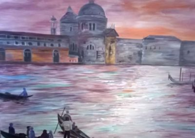 Acrylic painting of Venice