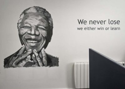 Nelson Mandela office mural