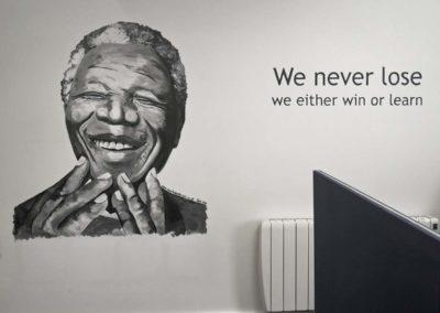 Nelson Mandela office mural
