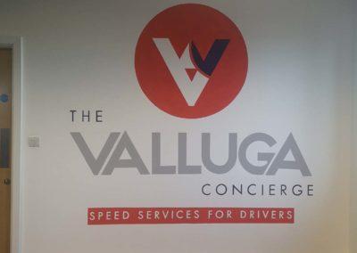 Valluga branding mural