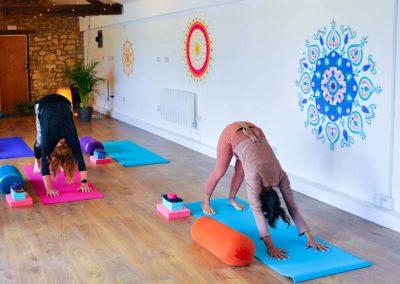 yoga studio mandala mural