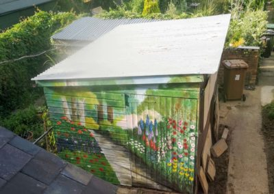 nature inspired garden mural