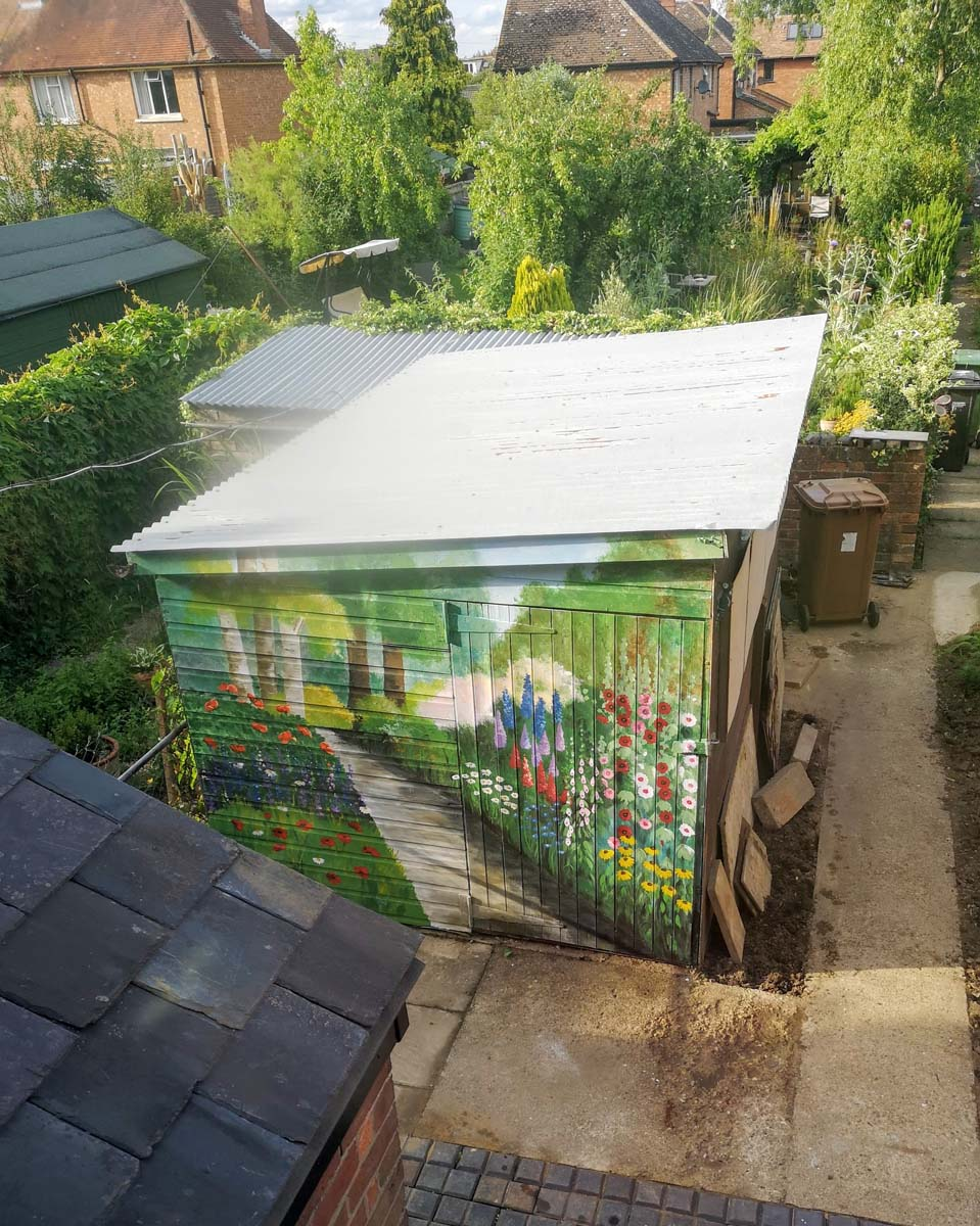 Jungle conservatory mural