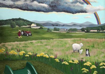 Scottish landscape mural