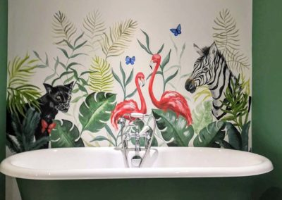 Jungle bathroom