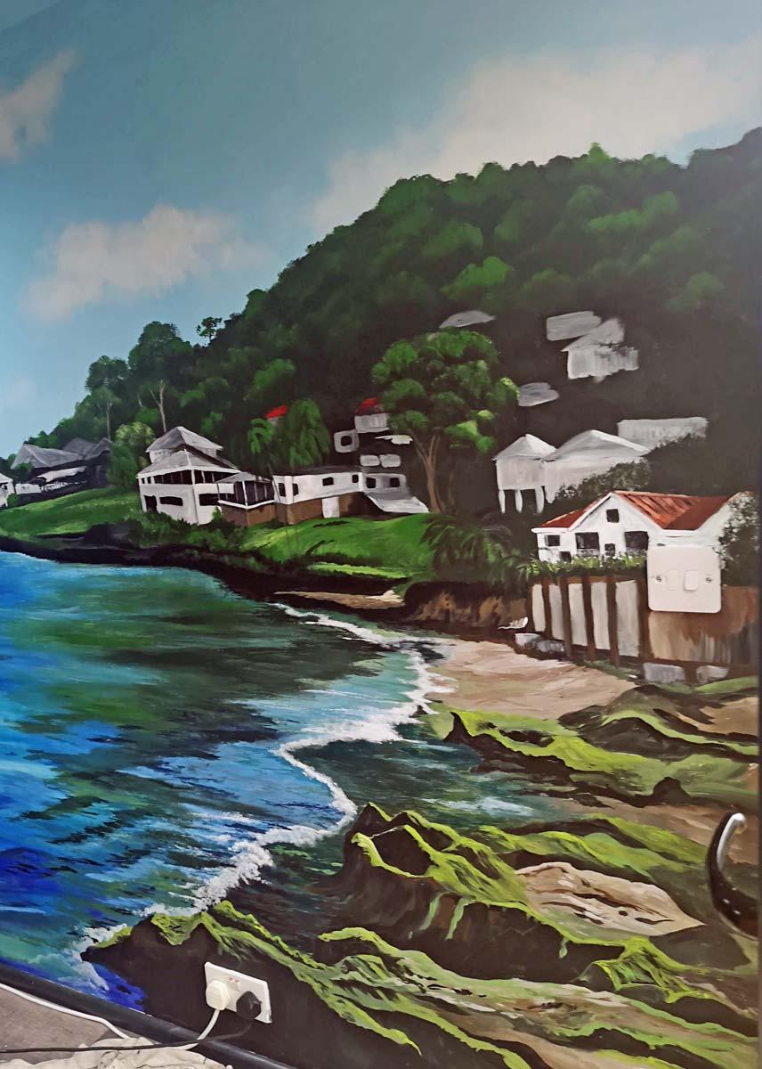 Grand Anse Beach mural