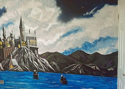 Harry Potter Hogwarts mural