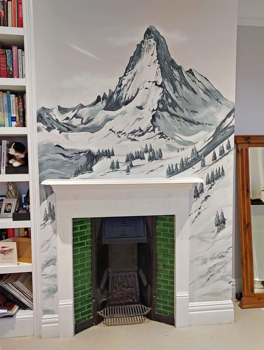 Matterhorn mountain mural