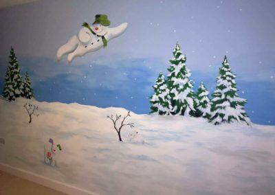 Snowman mural