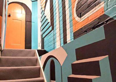 Escher stairwell mural