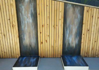 Abstract garden seating