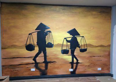 Vietnamese restaurant mural