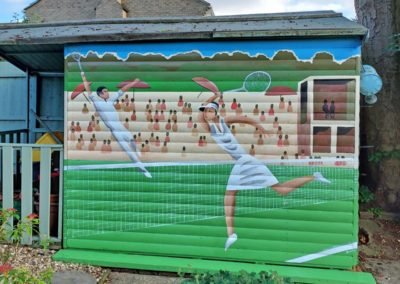 Tennis shed mural