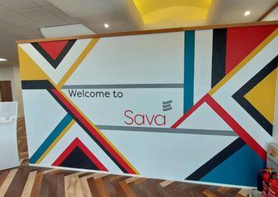 Entrance mural for Sava Ltd.