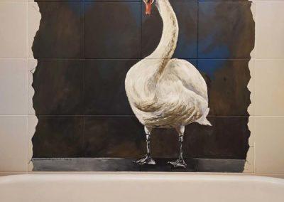 Swan trompe l'oeil