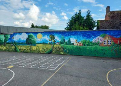 Van Gogh inspired playground mural